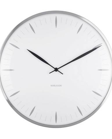 Karlsson 5761WH dizajnové nástenné hodiny, pr. 40 cm