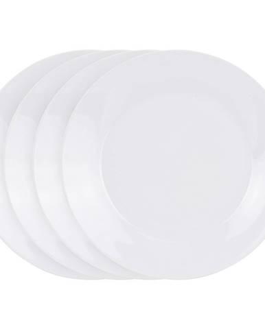 4-dielna sada plytkých tanierov White, 24 cm