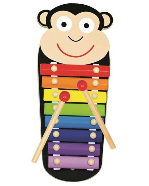 Bino Bino Kovový xylofón Opička, 33 x 14 x 3 cm