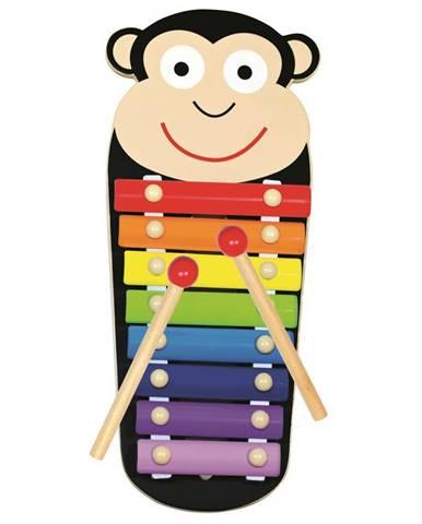 Bino Kovový xylofón Opička, 33 x 14 x 3 cm
