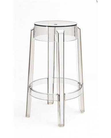 ArtD Barová stolička Duch 66 cm inšpirovaná Ghost transparentná