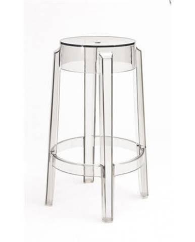 ArtD Barová stolička Duch 75 cm inšpirovaná Ghost transparentná