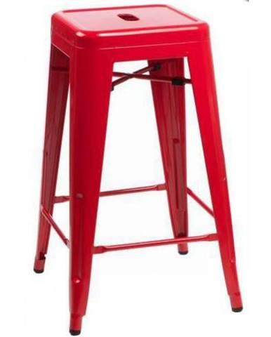 ArtD Barová stolička Paris 66cm inšpirovaná Tolix červená