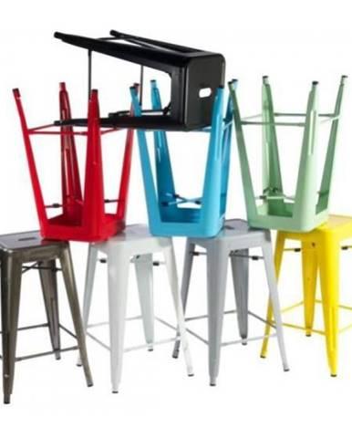 ArtD Barová stolička Paris 66cm inšpirovaná Tolix modrá