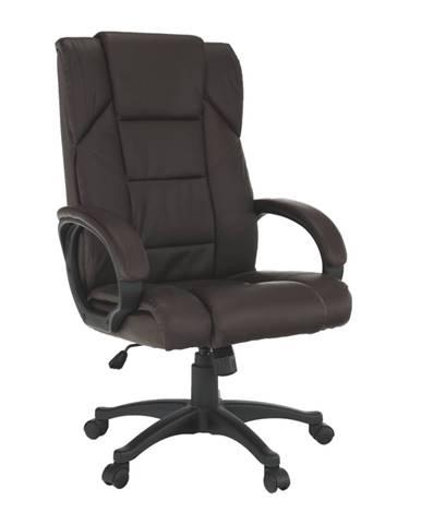 Kancelárske kreslo hnedá ekokoža SIEMO NEW