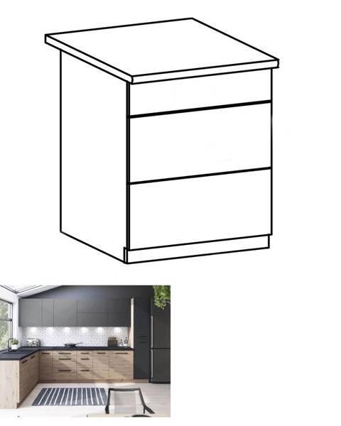 Kondela Spodná skrinka dub artisan s otváraním PUSH UP LANGEN D60S3