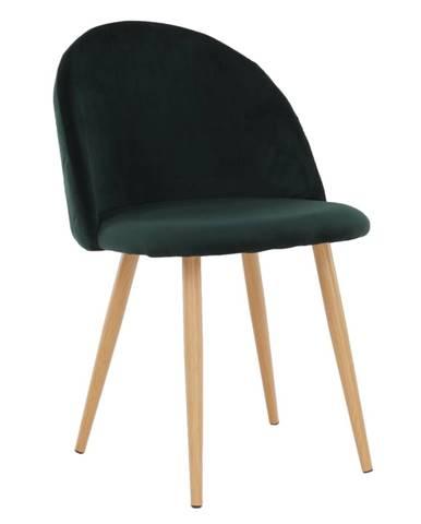 Jedálenská stolička smaragdová Velvet látka FLUFFY