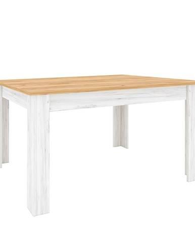Jedálenský stôl rozkladací dub craft zlatý/dub craft biely SUDBURY