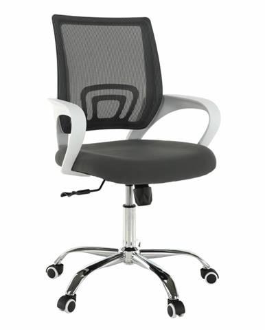 Kancelárske kreslo sivá/biela SANAZ TYP 2