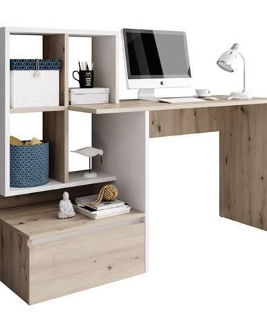 PC stôl dub artisan/biely mat NEREO