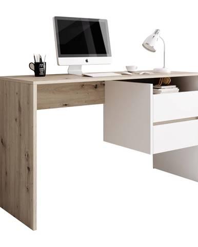 PC stôl dub artisan/biely mat TULIO