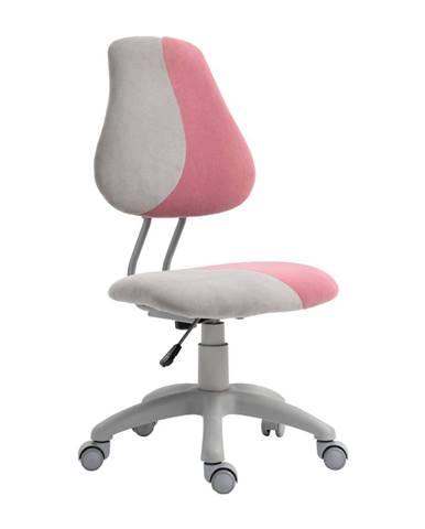 Rastúca otočná stolička sivá/ružová RAIDON