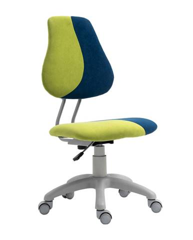 Rastúca otočná stolička zelená/modrá/sivá RAIDON