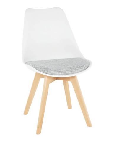 Stolička biela/verzo sivá DAMARA