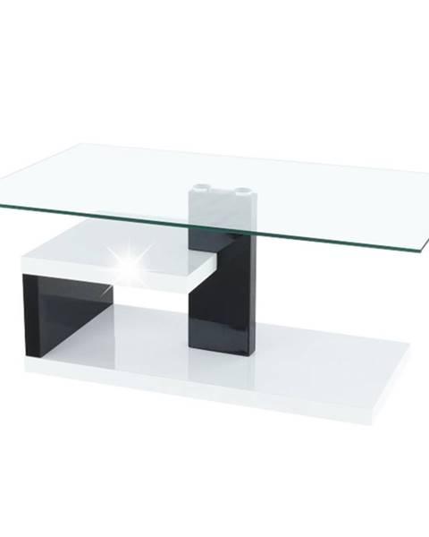 Kondela Konferenčný stolík biela extra vysoký lesk HG/čierna extra vysoký lesk HG LARS NEW rozbalený tovar