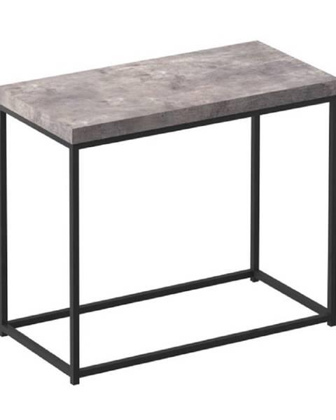 Kondela Príručný stolík čierna/betón TENDER rozbalený tovar