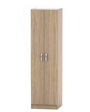 2-dverová skriňa vešiaková dub sonoma BETTY 2 BE02-004-00 rozbalený tovar