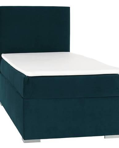 Boxspringová posteľ jednolôžko zelená 90x200 ľavá SAFRA