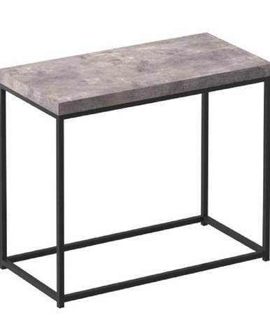 Príručný stolík čierna/betón TENDER rozbalený tovar