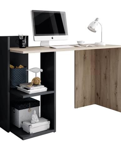 PC stôl dub artisan/grafit-antracit ANDREO