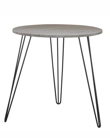 Príručný stolík dub/čierna KALEB