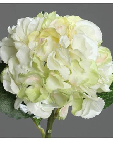 umelá kvetina Hortenzia, krémová%
