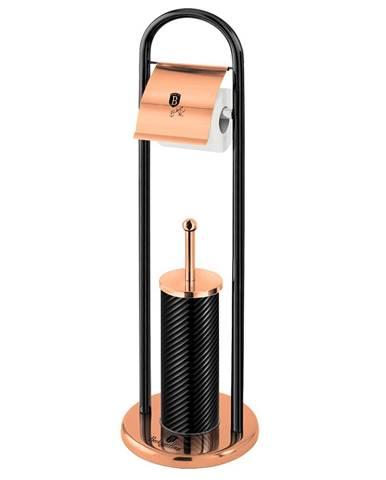 WC sada nehrdzavejúca oceľ čierna/Rose Gold BERLINGERHAUS BH-6552
