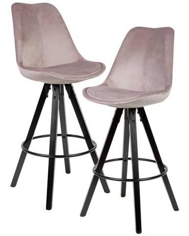 Barová Stolička 2ks Ružová