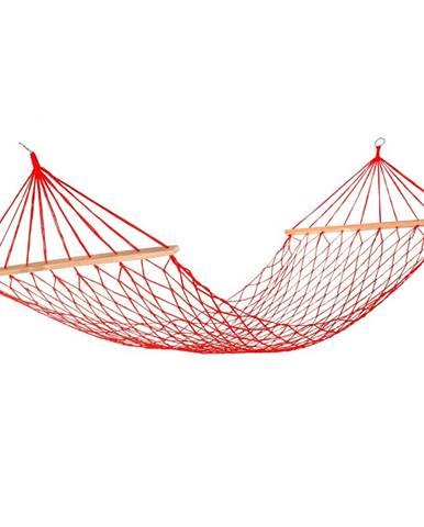 Happy Green Závesné sieťové ležadlo 200 x 80 cm, červená