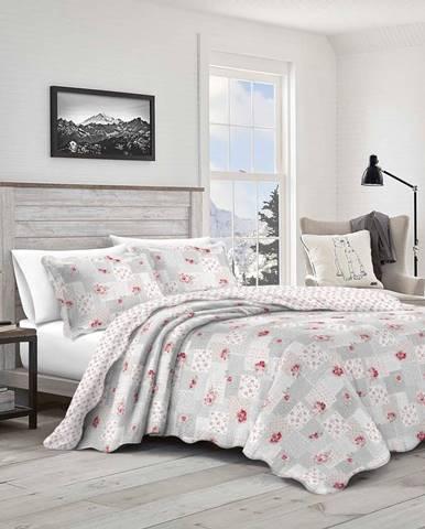 Prehoz na posteľ Patchwork Idea, 230 x 250 cm, 2 ks 50 x 70 cm, 230 x 250 cm