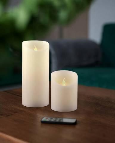 Sada Voskových LED sviečok s diaľkovým ovládačom, 7,5 x 15 cm, 2 ks