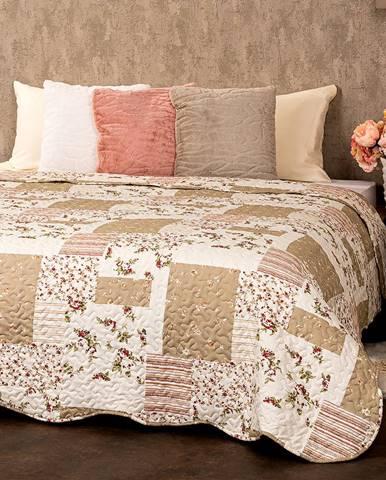 4Home Prehoz na posteľ Patchwork, 140 x 220 cm