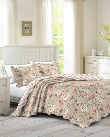 Prehoz na posteľ Eva, 230 x 250 cm, 2 ks 50 x 70 cm, 230 x 250 cm