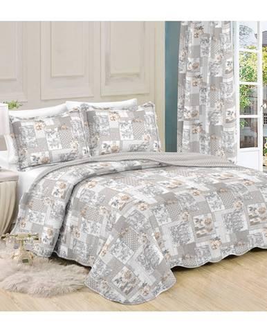 Prehoz na posteľ Patchwork Ina, 140 x 200 cm, 1ks 50 x 70 cm, 140 x 200 cm