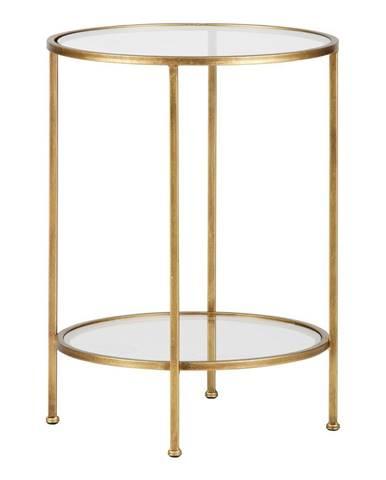 Mosadzný odkladací stolík BePureHome Goddess, ⌀45,5cm