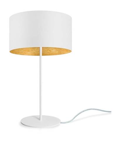 Bielo-zlatá stolová lampa Sotto Luce MIKA M 1T