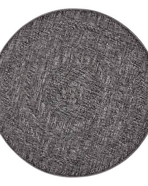 Bougari Tmavosivý vonkajší koberec Bougari Almendro, Ø 160 cm