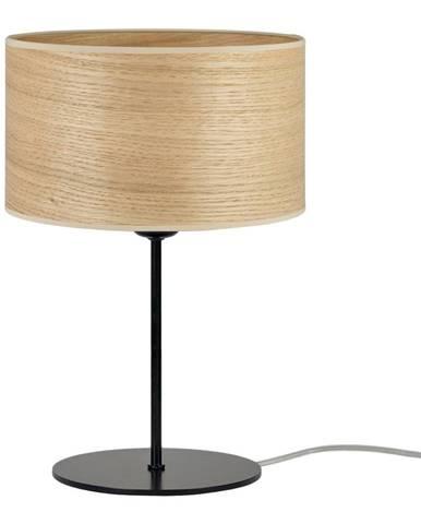 Béžová stolová lampa z prírodnej dyhy Sotto Luce Tsuru S, ⌀ 25 cm