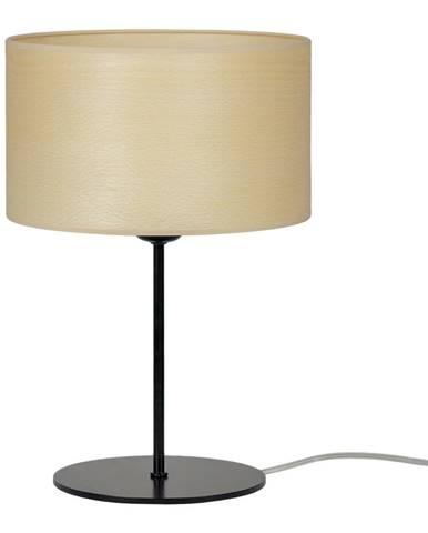 Béžová stolová lampa z prírodnej dyhy Sotto Luce Tsuru S Light, ⌀ 25 cm