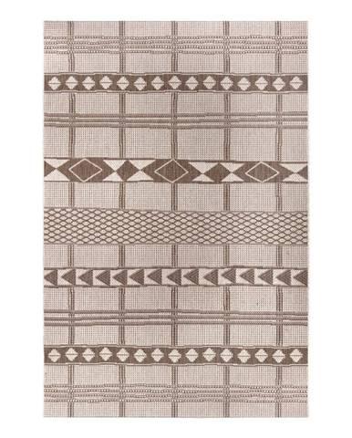 Hnedo-béžový vonkajší koberec Ragami Madrid, 80 x 150 cm