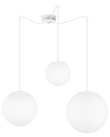 Matne biele trojramenné závesné svietidlo Sotto Luce Tsuki