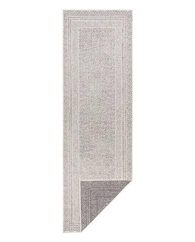 Sivo-biely vonkajší behúň Ragami Berlin, 80 x 250 cm