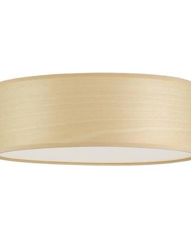 Stropné svietidlo z prírodnej dyhy vo farbe bieleného buka Sotto Luce TSURI, Ø 30 cm