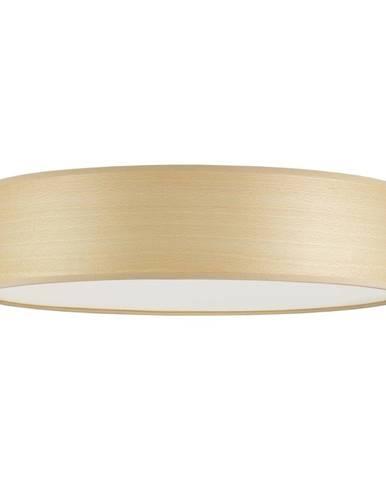 Stropné svietidlo z prírodnej dyhy vo farbe bieleného buka Sotto Luce TSURI, Ø 40 cm