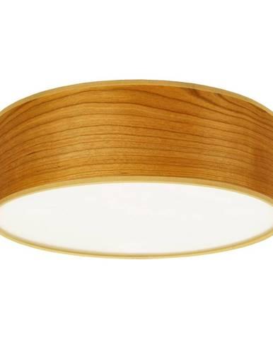 Stropné svietidlo z prírodnej dyhy vo farbe čerešňového dreva Sotto Luce TSURI, Ø 30 cm