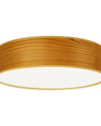 Stropné svietidlo z prírodnej dyhy vo farbe čerešňového dreva Sotto Luce TSURI, Ø 40 cm