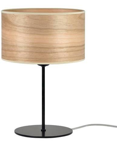 Svetlohnedá stolová lampa z prírodnej dyhy Sotto Luce Tsuru S, ⌀ 25 cm