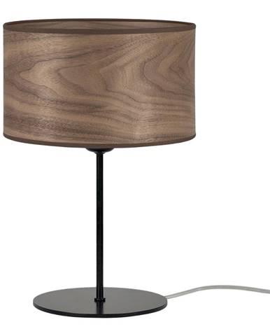 Tmavohnedá stolová lampa z prírodnej dyhy Sotto Luce Tsuru S, ⌀ 25 cm