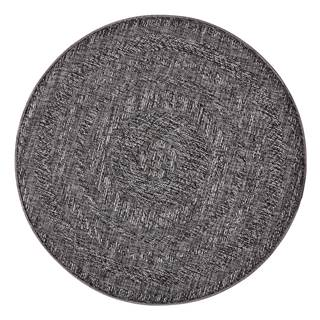 Tmavosivý vonkajší koberec Bougari Almendro, Ø 160 cm