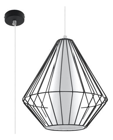 Čierne závesné svietidlo Nice Lamps Alfredo